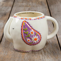 Folk Art Mug Elephant by Natural Life