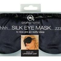 Aroma Home Satin Eye Mask Black