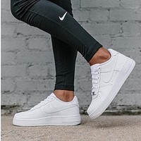 NIKE Women Men Running Sport Casual Shoes Sneakers Air force White-2