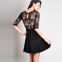 A 091008 Slim chest wrapped dress lace stitching