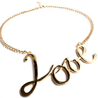 """""""Love Is The Key"""" Gold Necklace"""
