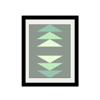 "Modern Abstract Triangle Poster. Geometric Print. Home Decor. Simple and Minimal. 8.5x11"" Print"