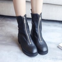Hot Deal On Sale Autumn Shoes High Heel Round-toe Boots [7993616321]