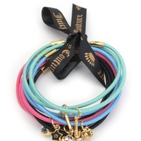 Multi Set Of 10 Hair Elastics by Juicy Couture, O/S