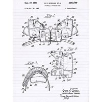 Vintage Football Shoulder Pads Patent Poster - Patent Poster - Office Art - Wall Art - Sports Art