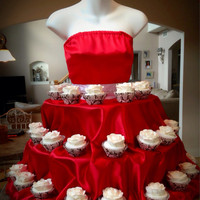 Valentine Red Couture Cupcake Stand