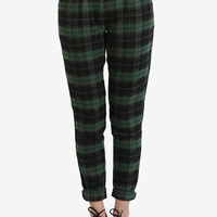 Casual Check Trouser Pant - Green