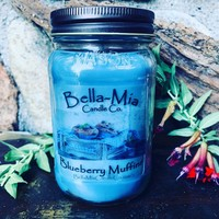 Blueberry-Muffin Natural Hand Poured Soy Candles