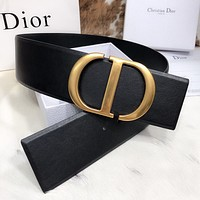 Dior Fashion Casual Ladies width 7.0 belt letter buckle belt