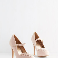 ModCloth Darling Definitive Drama Heel in Blush