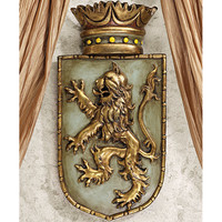 Design Toscano Medieval Rampant Lion Shield Wall Décor