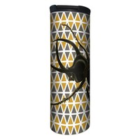 Geometric Pattern Beetle Barista Tumbler Travel Mug - 17 Ounce, Spill Resistant, Stainless Steel & Vacuum Insulated