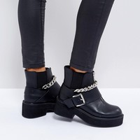 ASOS ROSSI Chunky Hardware Boots at asos.com
