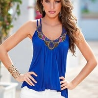 Two strap embellished top by VENUS