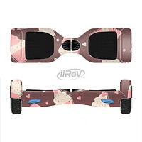 The Pink Outlined Cupcake Pattern Full-Body Skin Set for the Smart Drifting SuperCharged iiRov HoverBoard