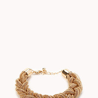 Sleek Braided Chain Bracelet