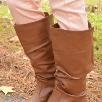 Walk With Me Boots: Cognac