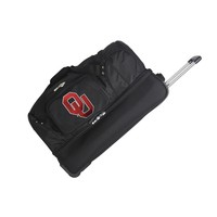 Oklahoma Sooners 27in Wheeled Duffel Nylon bag-BLACK