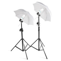 Square Perfect 2 Photo Studio Lighting Umbrella Stand Photography Light Kit Set