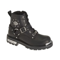 Harley-Davidson Women's Becky 5.5-Inch Black Leather Motorcycle Boots. D87048