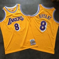 DCCK 1996-97 Mitchell & Ness Lakers 8 Kobe Bryant Retro Swingman NBA Jerseys