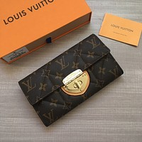 LV Louis Vuitton WOMEN'S MONOGRAM CANVAS WALLET