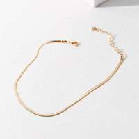 Snake Chain Choker Necklace   Urban Outfitters