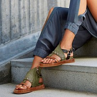 woman sandals flat casual