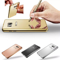 For Samsung Galaxy Note 5 case cover Luxury Aluminum Metal Frame+Acrylic Mirror back cover For Samsung Galaxy Note5 case