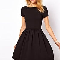 Abody Casual Women Jersey Dress Slim Fit Sweet One-piece Dress