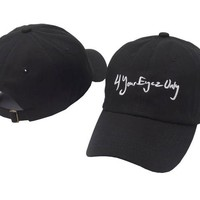 J Cole 4 Your Eyez Only Black Embroidered Cotton Dad Hat