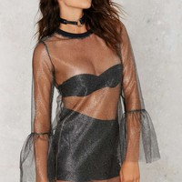 The Ragged Priest Mind You Mesh Tunic Top