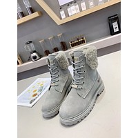 HOT33  Trending Women's men Black Leather Side Zip Lace-up Ankle Boots Shoes High Boots