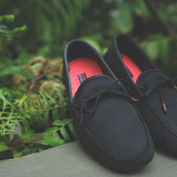 Swims Lace Up Loafer - Black