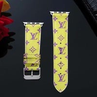 New 2019 LV Mini Monogram Apple Watch Band - Yellow & Purple