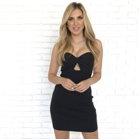 Black Front Tie Dress