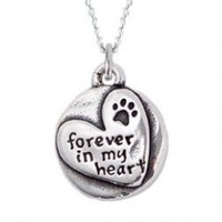 Sterling Silver Necklace - Forever in my Heart:Amazon:Pet Supplies