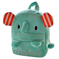 "Green Animal Pattern ""Elephant"" Print Backpack"