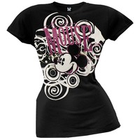 Mickey Mouse - Spirals Juniors T-Shirt