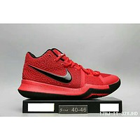 NIKE ID Kyrie 3 Owen 3 generation fashion shoes F-HAOXIE-ADXJ Red