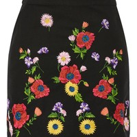 Floral Embroidered Mini Skirt - New In Fashion - New In