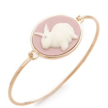 Marc by Marc Jacobs Bunny Cameo Hinge Cuff Bracelet   SHOPBOP