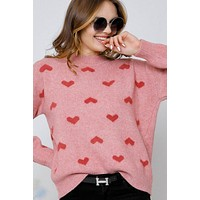 Heart Shaped Long Sleeve Sweater