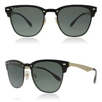 RayBan Blaze Club Master Sunglasses RB3576N 043/71 41 Gold Green Lens New