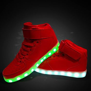 High-top Couple Lightning Multi-color Shoes [45991264281]