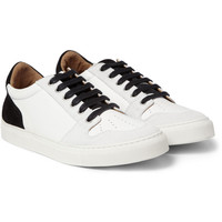 AMI - Leather and Suede Sneakers   MR PORTER