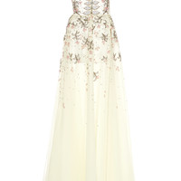 One Shoulder Embellished Gown | Moda Operandi