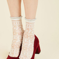 Cheer for Sheer Socks | Mod Retro Vintage Socks | ModCloth.com