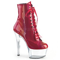 "Aspire 1020BHG Red Brush Hologram 6"" High Heel Ankle Boots"