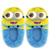 plush slippers Minion despicable me 2 cotton Slippers kawaii warm slippers in home winter indoor shoes for womenDL1134